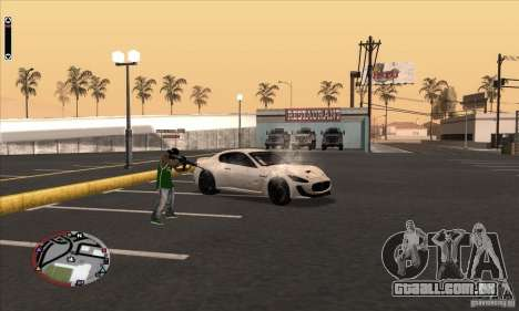 GodPlayer v1.0 for SAMP para GTA San Andreas por diante tela