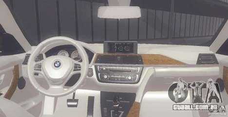 BMW 335i Coupe 2013 para GTA San Andreas vista direita