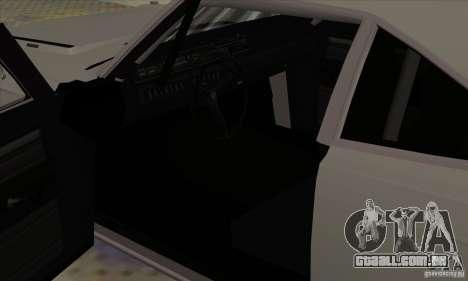 Plymouth Roadrunner para GTA San Andreas vista traseira