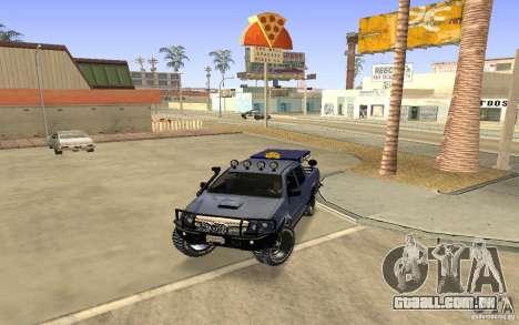 Toyota Hilux Rally Version para GTA San Andreas esquerda vista