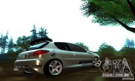 Peugeot 206 Tuning para GTA San Andreas vista direita