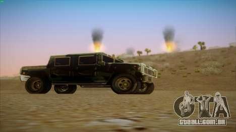 HD Patriot para GTA San Andreas vista direita