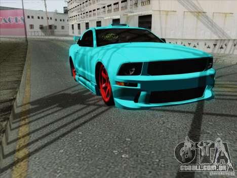 Ford Mustang GT Lowlife para GTA San Andreas vista interior