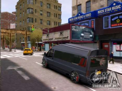 Ford Transit Sport Edition RV 2013 para GTA 4 vista superior