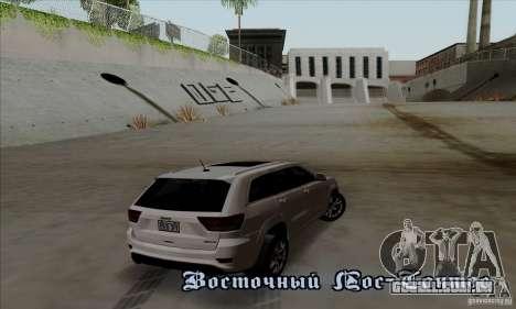 Jeep Grand Cherokee SRT-8 2013 para GTA San Andreas vista direita
