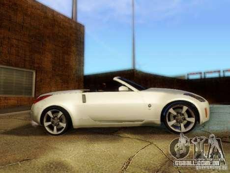 Nissan 350Z Cabrio para GTA San Andreas traseira esquerda vista