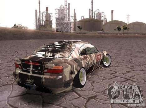 Nissan Silvia S15 Volklinger para GTA San Andreas esquerda vista