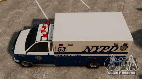 Nova van polícia para GTA 4 vista direita