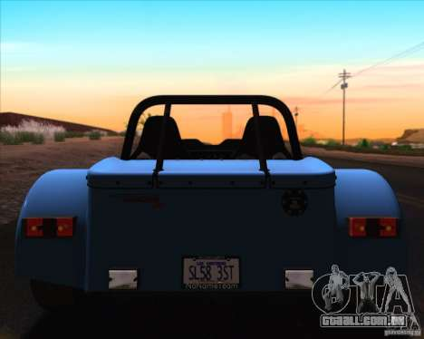 Caterham Superlight R500 para GTA San Andreas interior