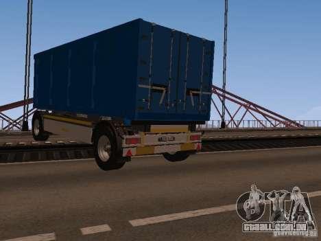 Trailer de homem TGA 28430 PALIFT para GTA San Andreas traseira esquerda vista