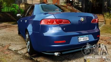 Alfa Romeo 159 TI V6 JTS para GTA 4 traseira esquerda vista