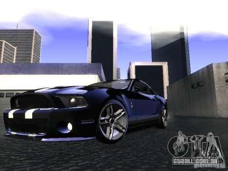 Ford Mustang Shelby GT500 para GTA San Andreas traseira esquerda vista