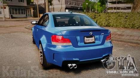 BMW 1M 2011 Carbon para GTA 4 traseira esquerda vista