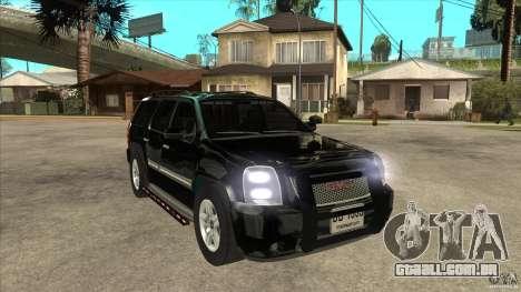 GMC Yukon Unmarked FBI para GTA San Andreas vista traseira