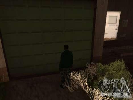 Utilização do armazém sua gangue para GTA San Andreas terceira tela