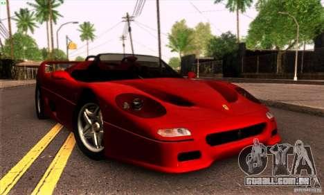 Ferrari F50 Spider para GTA San Andreas esquerda vista