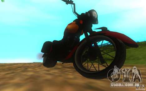 Motorcycle from Mercenaries 2 para GTA San Andreas vista direita