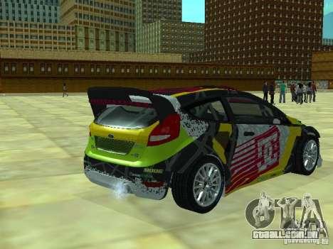 Ford Fiesta H.F.H.V. Ken Block Gymkhana 5 para GTA San Andreas esquerda vista