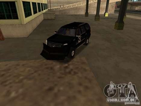 Cadillac Escalade Tallahassee para GTA San Andreas vista interior