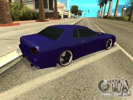 Elegy by W1nston4iK para GTA San Andreas traseira esquerda vista