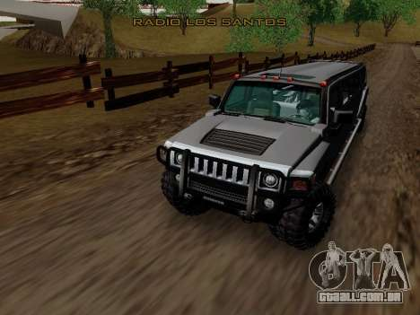 Hummer H3 Limousine para GTA San Andreas vista interior