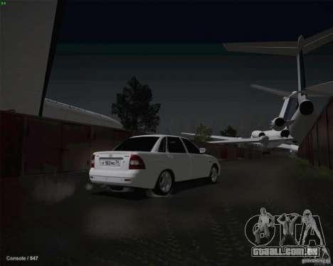 Lada 2170 para GTA San Andreas vista inferior