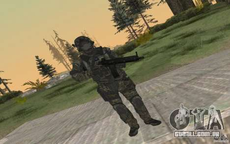 Seals soldier from BO2 para GTA San Andreas por diante tela