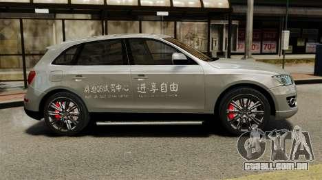 Audi Q5 Chinese Version para GTA 4 esquerda vista
