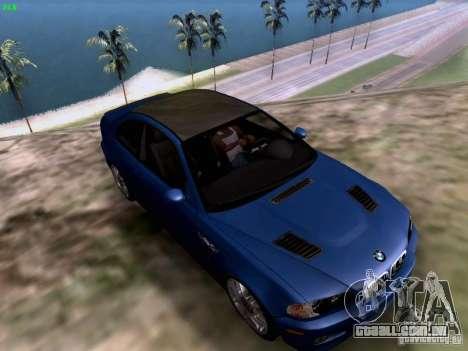 BMW M3 Tunable para GTA San Andreas traseira esquerda vista