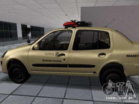 Renault Clio Symbol Police para GTA San Andreas esquerda vista