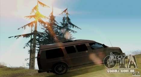 GMC Savana AWD para GTA San Andreas vista traseira
