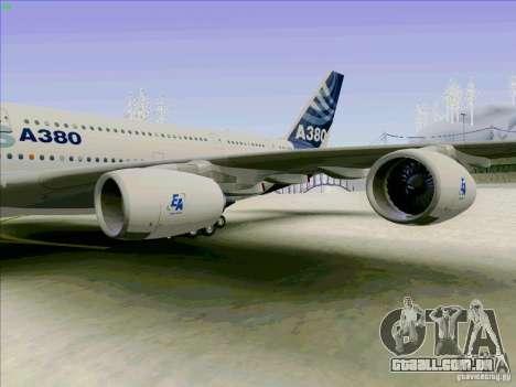 Airbus A380-800 para GTA San Andreas vista direita
