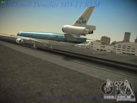 McDonnell Douglas MD-11 KLM Royal Dutch Airlines para GTA San Andreas esquerda vista