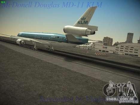 McDonnell Douglas MD-11 KLM Royal Dutch Airlines para GTA San Andreas esquerda vista