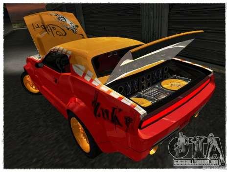 Dodge Challenger Calibri-Ace para GTA San Andreas vista traseira