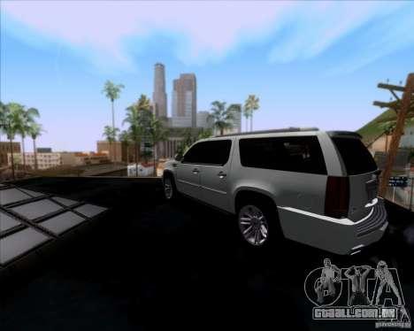 Cadillac Escalade ESV Platinum 2013 para GTA San Andreas traseira esquerda vista