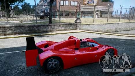 Ferrari 333 SP 1994 para GTA 4 traseira esquerda vista