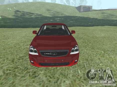 VAZ-2170 para GTA San Andreas traseira esquerda vista