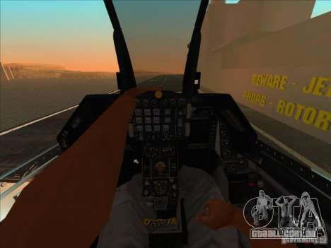 F-16C Fighting Falcon para GTA San Andreas vista traseira