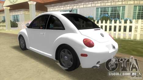 VW New Beetle para GTA Vice City vista traseira esquerda