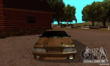 Ford Mustang SVT Cobra 1993 para GTA San Andreas vista direita