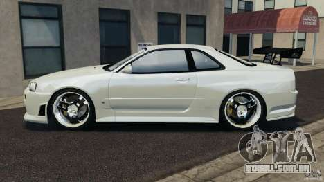 Nissan Skyline GT-R R34 para GTA 4 esquerda vista