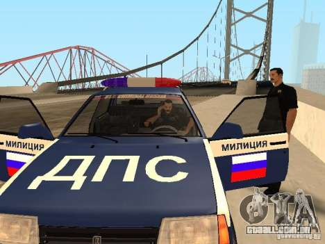 Um acidente na ponte Garver para GTA San Andreas por diante tela
