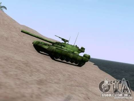 T-80 para GTA San Andreas esquerda vista
