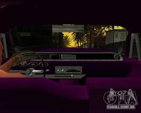 Chevrolet Impala para GTA San Andreas traseira esquerda vista