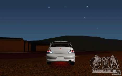 Mitsubishi Lancer Evo VIII GSR para GTA San Andreas vista traseira
