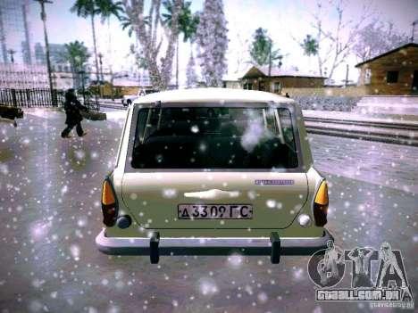 AZLK 2140 para GTA San Andreas traseira esquerda vista