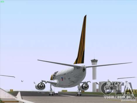 Boeing 737-800 Tiger Airways para GTA San Andreas vista traseira