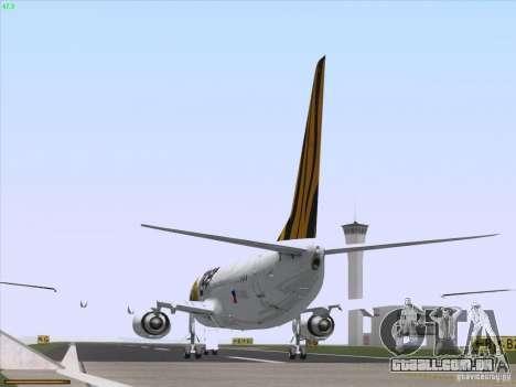 Boeing 737-800 Tiger Airways para GTA San Andreas vista traseira