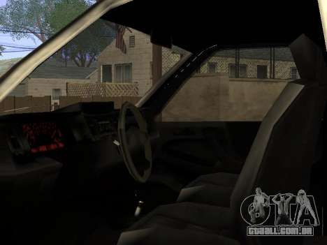Yosemite Custom para GTA San Andreas vista interior